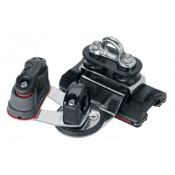 22mm CB Traveler - high-load / pivoting sheaves / swivel / 150 Cam-Matic