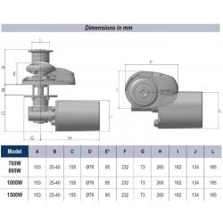 X2 - Low Profile - 800W/24V - 6mm ISO 4565 / Din 766 - Aluminium