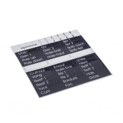 X-LBL clutch handle labels