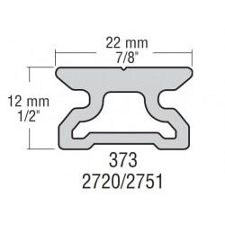 22mm Raíl Perfil Bajo L:600mm