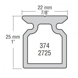 22mm Raíl Perfil Alto L:1,2m