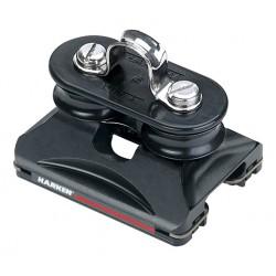 22mm CB Traveler - low-load / fixed sheaves / eyestrap